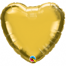 "Gold Mini Foil Balloon (9"" Heart Air-Fill) 1pc"